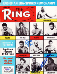 Muhammad Ali & Others Autographed The Ring Magazine Cover PSA/DNA #S01534