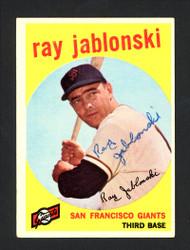 Ray Jablonski Autographed 1959 Topps Card #342 San Francisco Giants SKU #164174