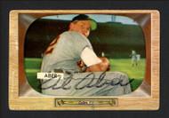 Al Aber Autographed 1955 Bowman Card #24 Detroit Tigers SKU #164176