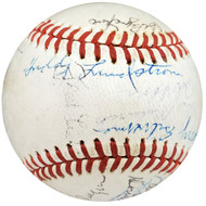 MLB Hall of Famers & Stars Autographed Official NL Baseball With 39 Total Signatures Including Joe Medwick & Freddie Lindstrom Beckett BAS #A59231