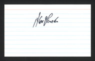 Alex Olmedo Autographed 3x5 Index Card SKU #165034