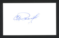 Charlie Pasarell Autographed 3x5 Index Card SKU #165035