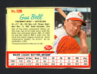 Gus Bell Autographed 1962 Post Cereal Card #120 Cincinnati Reds SKU #165166