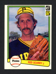 Rod Scurry Autographed 1982 Donruss Card #185 Pittsburgh Pirates SKU #165310