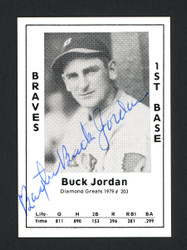 "Baxter ""Buck"" Jordan Autographed 1979 Diamond Greats Card #203 Boston Braves SKU #165825"