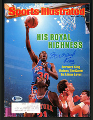 Bernard King Autographed Sports Illustrated Magazine New York Knicks Beckett BAS #S76390