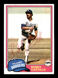 Bobby Castillo Autographed 1981 Topps Card #146 Los Angeles Dodgers SKU #166582