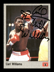 "Carl ""The Truth"" Williams Autographed 1991 All World Card #42 SKU #167225"