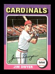 Jim Dwyer Autographed 1975 Topps Mini Card #429 St. Louis Cardinals SKU #168644