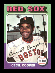 Cecil Cooper Autographed 1975 Topps Mini Card #489 Boston Red Sox SKU #168655
