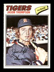 Jason Thompson Autographed 1977 O-Pee-Chee Card #64 Detroit Tigers SKU #169494