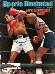 Muhammad Ali & Earnie Shavers Autographed Sports Illustrated Magazine Cover PSA/DNA #S01562