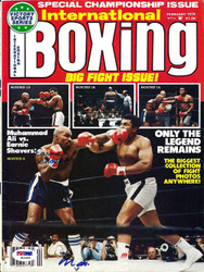 Muhammad Ali & Earnie Shavers Autographed International Boxing Magazine Cover PSA/DNA #S01564