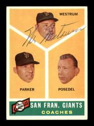 Wes Westrum Autographed 1960 Topps Card #469 San Francisco Giants Coach SKU #169699