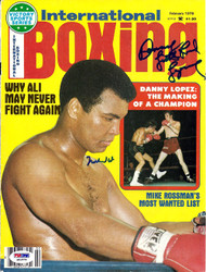 Muhammad Ali & Danny Lopez Autographed International Boxing Magazine Cover PSA/DNA #S01576