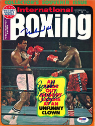 Muhammad Ali & Ron Lyle Autographed International Boxing Magazine Cover PSA/DNA #S01582