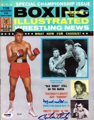 Muhammad Ali & Carlos Ortiz Autographed Boxing Illustrated Magazine Cover PSA/DNA #S01603