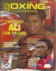 Muhammad Ali & Howard Davis Autographed Boxing Illustrated Magazine Cover PSA/DNA #S01607