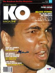 Muhammad Ali Autographed KO Boxing Magazine Cover PSA/DNA #S01617