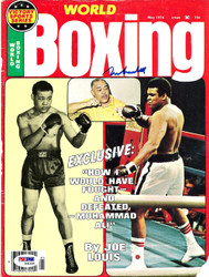 Muhammad Ali Autographed Boxing World Magazine Cover PSA/DNA #S01635