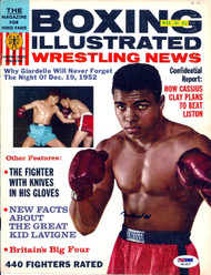 Muhammad Ali Autographed Boxing Illustrated Magazine Cover PSA/DNA #S01637