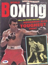 Muhammad Ali Autographed Boxing World Magazine Cover PSA/DNA #S01663