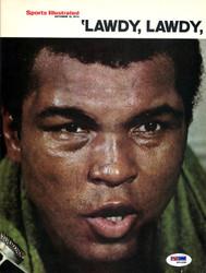 Muhammad Ali Autographed Magazine Page Photo PSA/DNA #S01698
