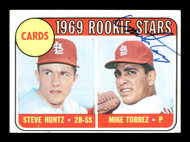 Mike Torrez Autographed 1969 Topps Rookie Card #136 St. Louis Cardinals SKU #170994