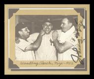 Johnny Mize Autographed 1977 Douglas Card Woodling, Raschi - 1952 SKU #171186