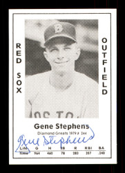 Gene Stephens Autographed 1979 Diamond Greats Card #244 Boston Red Sox SKU #172056