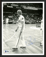 Larry Bird Autographed 8x10 Photo Boston Celtics Vintage Signature Beckett BAS #S78998
