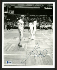 Larry Bird Autographed 8x10 Photo Boston Celtics Vintage Signature Beckett BAS #S78997