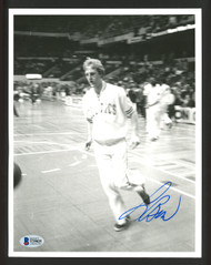 Larry Bird Autographed 8x10 Photo Boston Celtics Vintage Signature Beckett BAS #T29025