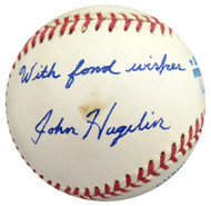 John Hagelin Autographed Official AL Baseball Presidential Candidate Beckett BAS #S78780