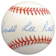 """Ron Reed Autographed Official NL Baseball Philadelphia Phillies """"Full Name"""" Beckett BAS #S78759"""