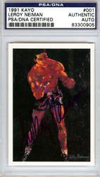Leroy Neiman Autographed 1991 Kayo Card PSA/DNA #83300905