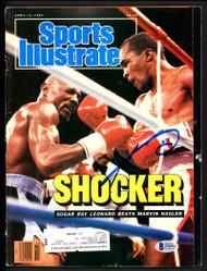 Sugar Ray Leonard Autographed Sports Illustrated Magazine Beckett BAS #S76761