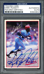 Kirby Puckett Autographed 1985 7-Eleven Rookie Card #1 Minnesota Twins PSA/DNA #83944802