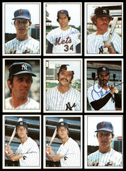 1975 SSPC Regional Baseball New York Yankees & Mets Autographed Cards Lot of 15 SKU #173952