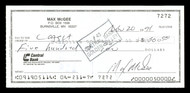Max McGee Autographed 2.75x6 Check Green Bay Packers SKU #174020