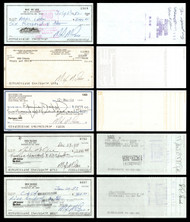 Max McGee Autographed 2.75x6 Check Lot of 20 Green Bay Packers SKU #174045