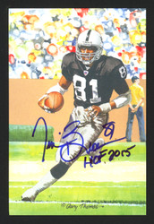 "Tim Brown Autographed Goal Line Art HOF Postcard #289 Oakland Raiders ""HOF 2015"" TB Holo Stock #174048"