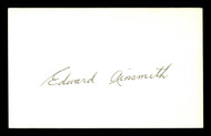 Eddie Ainsmith Autographed 3x5 Index Card Washington Senators SKU #174071