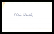 Eddie Chandler Autographed 3x5 Index Card Brooklyn Dodgers SKU #174106