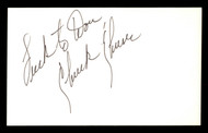 """Chuck Churn Autographed 3x5 Index Card Los Angeles Dodgers """"Luck to Don"""" SKU #174108"""