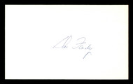 Dee Fondy Autographed 3x5 Index Card Chicago Cubs SKU #174145