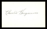Charlie Hargreaves Autographed 3x5 Index Card Brooklyn Dodgers SKU #174157