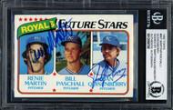 Dan Quisenberry & Renie Martin Autographed 1980 Topps Rookie Card #667 Kansas City Royals Beckett BAS #12058700