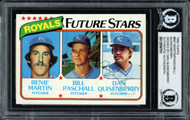 Dan Quisenberry Autographed 1980 Topps Rookie Card #667 Kansas City Royals Beckett BAS #12058701