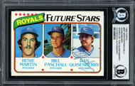 Dan Quisenberry Autographed 1980 Topps Rookie Card #667 Kansas City Royals Beckett BAS #12058702